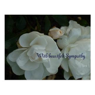 With heartfelt Sympathy - condolence map Postcard