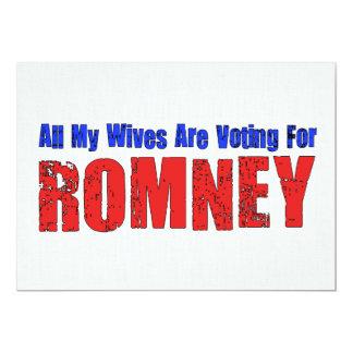 Wives For Romney 13 Cm X 18 Cm Invitation Card