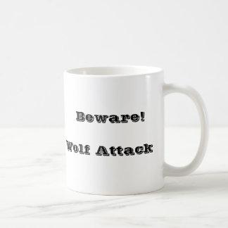 Wolf bites basic white mug