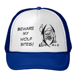 Wolf bites cap