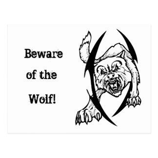 Wolf bites postcard