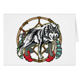 Wolf Dreamcatcher Greeting Card