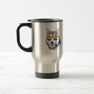 Wolf Pride Stainless Steel Travel Mug