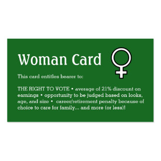 """Woman Card, Business, 3.5"""" x 2.0"""", 100 pack Pack Of Standard Business Cards"""