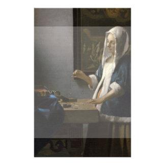 Woman Holding a Balance by Johannes Vermeer 14 Cm X 21.5 Cm Flyer