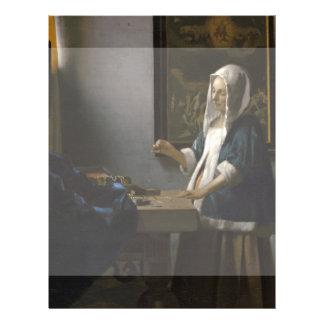 Woman Holding a Balance by Johannes Vermeer 21.5 Cm X 28 Cm Flyer