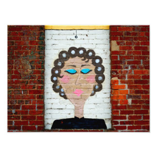 Woman in Curlers Art Photo