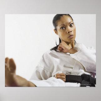 Woman performing martial arts 2 poster