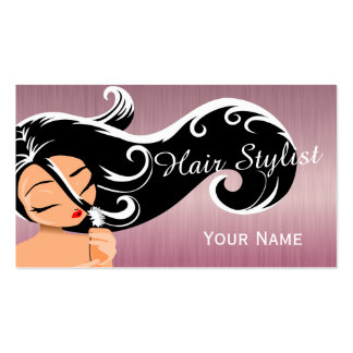 Woman Salon Hair Stylist Pack Of Standard Business Cards