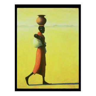 Woman Walking 1990 Postcard