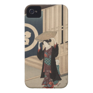 Woman walking - Vintage Japanese Woodblock iPhone 4 Cover