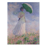 Woman with a Parasol turned to the Right, 1886 Postcard