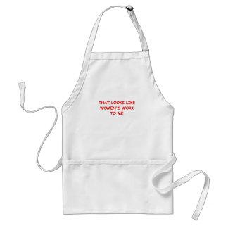 womans work standard apron