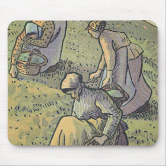 Women Gathering Mushrooms, from 'Travaux des Champ Mouse Pad