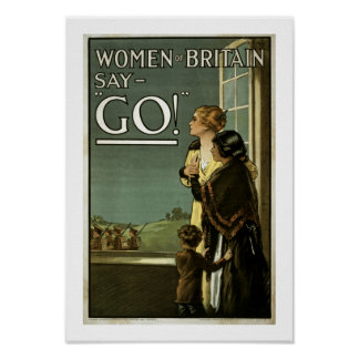 Women of Britain Say GO! (white) Poster