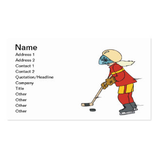 Women Play Hockey Too Pack Of Standard Business Cards