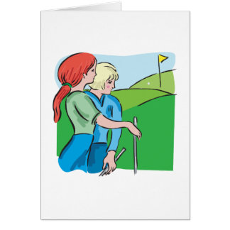 Womens Golf Greeting Card