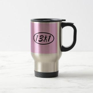 Womens half marathon stainless steel travel mug