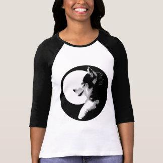 Women's Husky Baseball Jersey Shirt Sled Dog Shirt