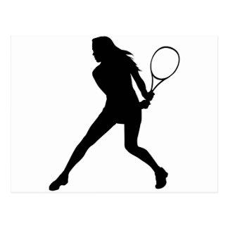 Women's Tennis Postcard