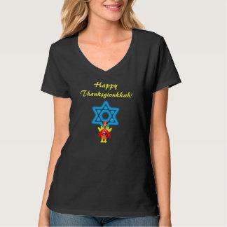 Womens Thanksgivukkah Funny Turkeys Tshirt