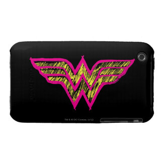 Wonder Woman Colorful Pink and Yellow Logo Case-Mate iPhone 3 Case