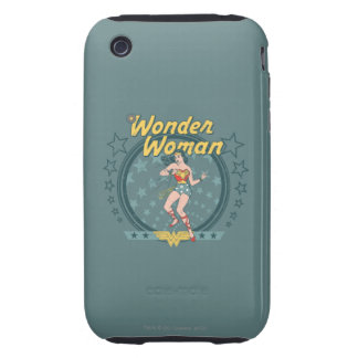 Wonder Woman Distressed Star Design Tough iPhone 3 Cases