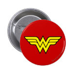 Wonder Woman Logo 6 Cm Round Badge