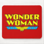 Wonder Woman Name and Logo Mouse Pad