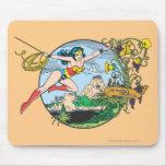 Wonder Woman Paradise Island Mouse Pad