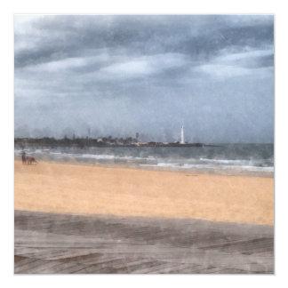 Wonderful beach 13 cm x 13 cm square invitation card