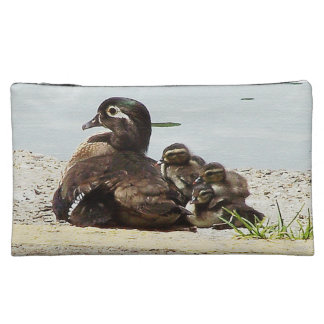 Wood Duck Birds Family Wildlife Animals Pond Bag Cosmetic Bags