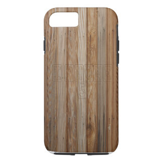 Wood effect iPhone 7 case with Text