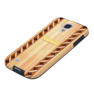 Wood Inlay Phone Case - Light Wood with Name Plate