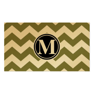 Woodbine Chevron and Monogram Pack Of Standard Business Cards