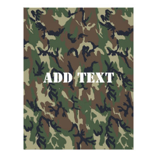 Woodland Camouflage Military Background 21.5 Cm X 28 Cm Flyer