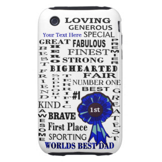 Word Collage Fathers Day iPhone 3G/3GS Tough Case