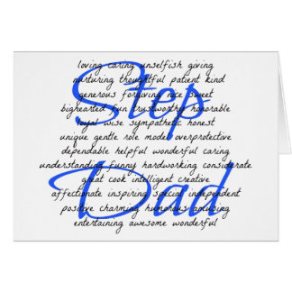 Words For a Step Dad Greeting Card