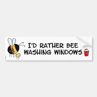 worker bee - window cleaner bumper sticker