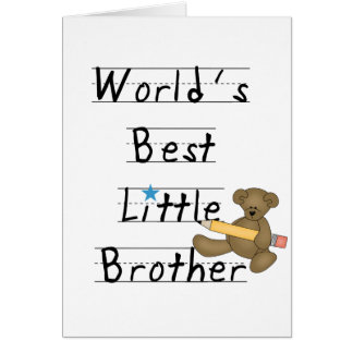 World Best Little Brother Tshirts and Gifts Greeting Card