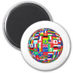 WORLD FLAGS 6 CM ROUND MAGNET