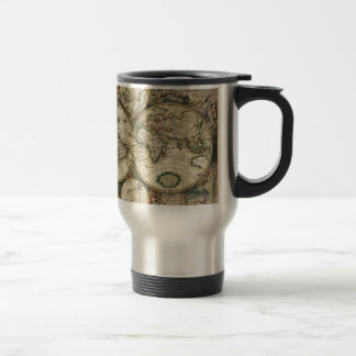 World Map from 1689 Stainless Steel Travel Mug