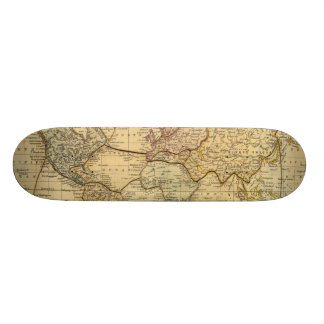 World map on Mercators Projection Skateboards