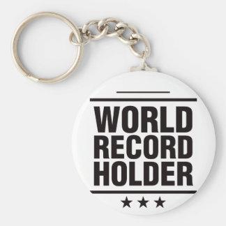 World Record Holder! Basic Round Button Key Ring