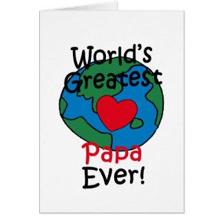 World's Greatest Papa Heart Greeting Card