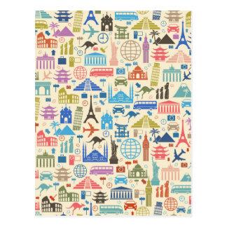 world travel postcard