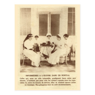 World War I, Knitting for the soldiers Postcard