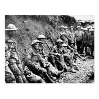 World War One Soldiers in the Trenches Postcard