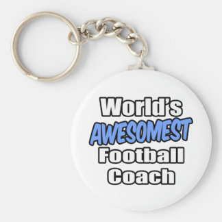 World's Awesomest Football Coach Basic Round Button Key Ring