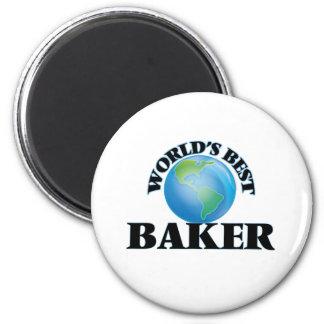 World's Best Baker 6 Cm Round Magnet